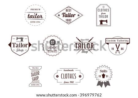 Tailor Badges Vector Logos - stock vector
