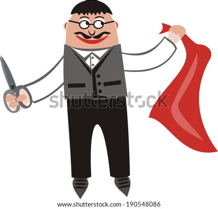 Tailor cartoon vector illustration