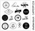 Tailor shop design elements - stock
