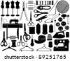 Tailoring equipment - stock vector