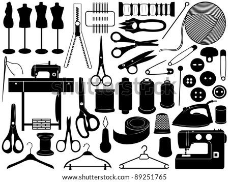 Tailoring equipment - stock vector