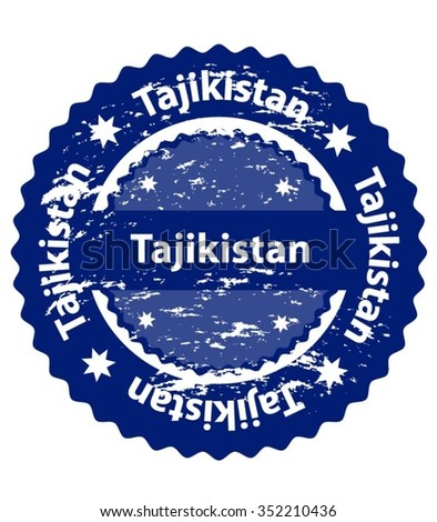 Tajikistan Country Grunge Stamp - stock vector