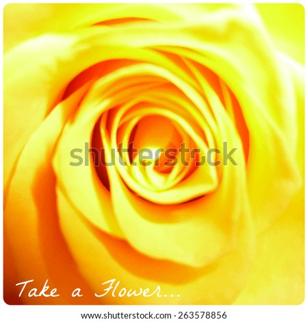 Take a flower on floral background. Vector illustration