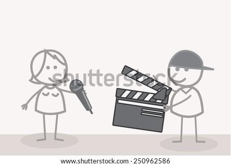Take Video Shooting  - stock vector