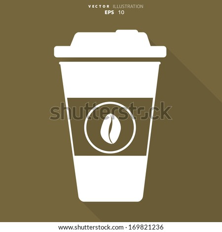 Takeaway paper coffee cup icon - stock vector