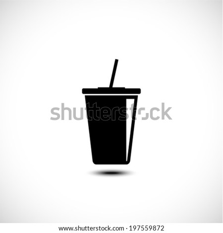Takeaway paper cup icon, Vector illustration - stock vector