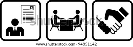 tale of a job interview - stock vector