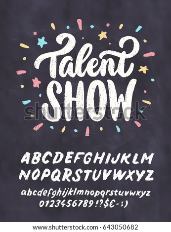 Talent Show Vector Chalkboard Sign Template Stock Vector - Chalkboard sign template