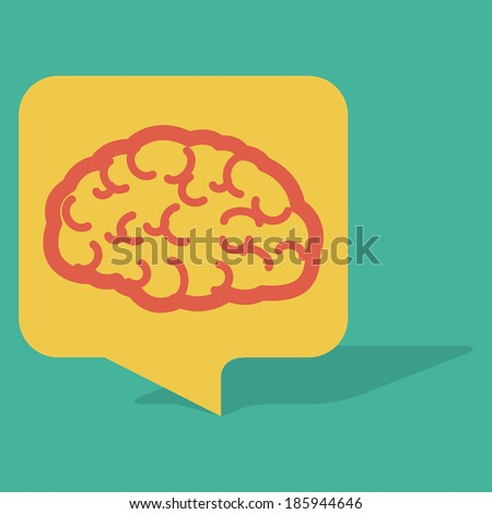 Talk Bubble Brain. Brain in Speech Bubble. Speech Bubble in Vintage Style. Vector illustration. Elements for design. Concept vector graphic for Creative. All in a single layer. - stock vector