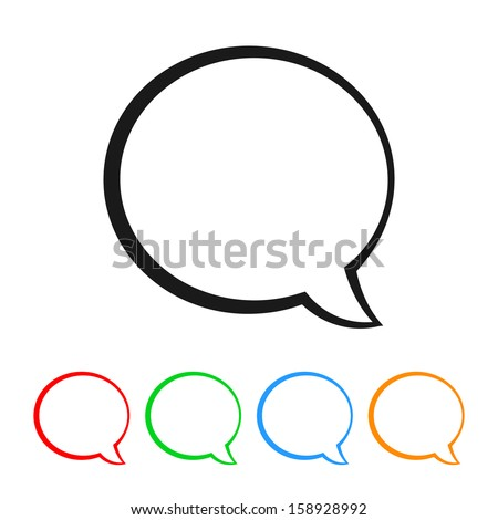 Talk Bubble / Speech Balloon Icon with Color Variations - stock vector