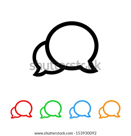 Talk Bubbles Icon - stock vector