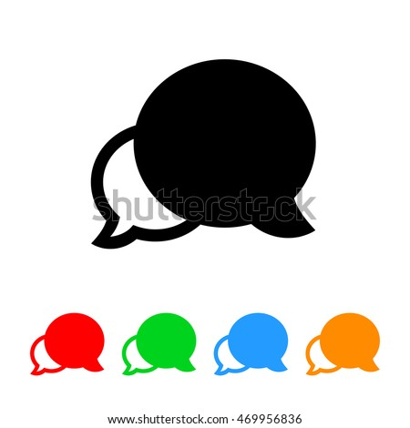 Talk Bubbles Icon with Color Variations