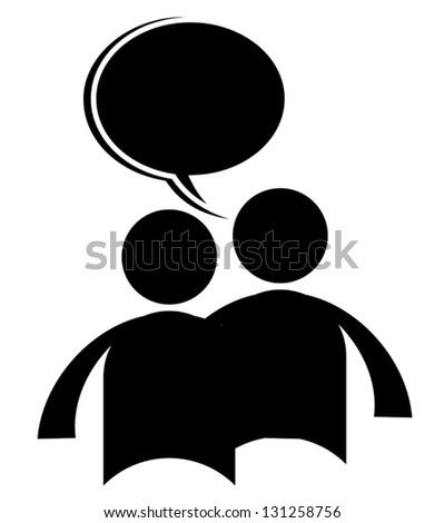 Talk chat icon - stock vector