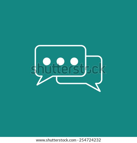 talk icon - stock vector