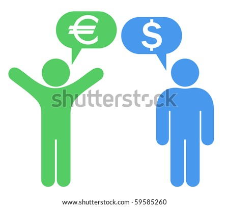 Talking about currency - stock vector