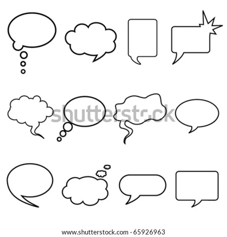 talking bubble set - stock vector