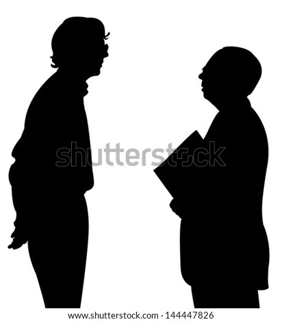 talking people silhouette vector - stock vector