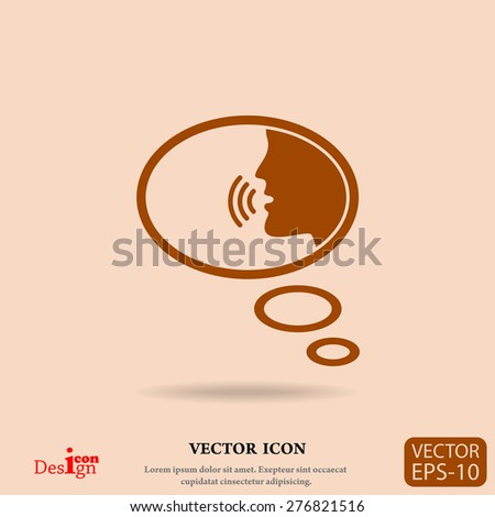 talking vector icon - stock vector