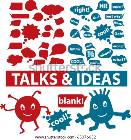 talks & ideas signs. vector - stock vector