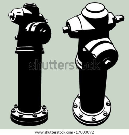 tall hydrant - stock vector
