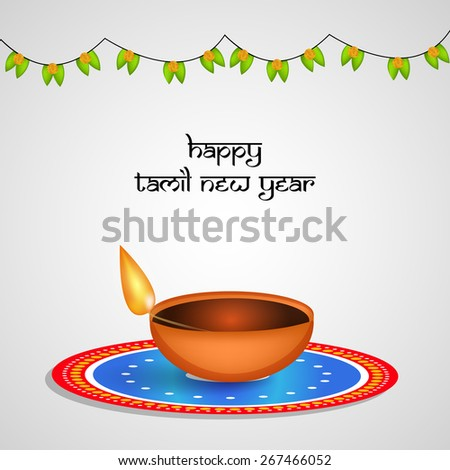 Tamil New Year background - stock vector