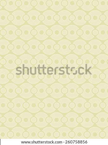 Tan circle pattern over tan color background - stock vector