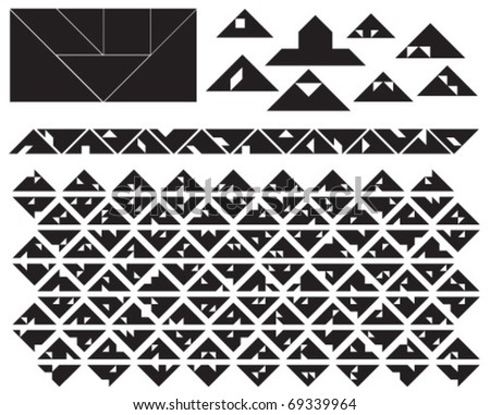 Tangram Triangles Collection
