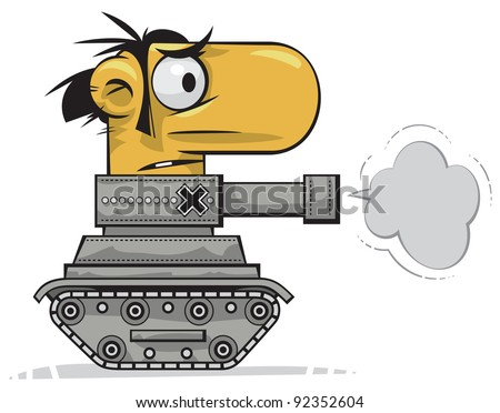 Tank man - stock vector