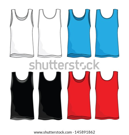 Tank Top Vector Template - stock vector