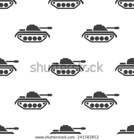 tank, vector seamless pattern, Editable can be used for web page backgrounds, pattern fills   - stock vector