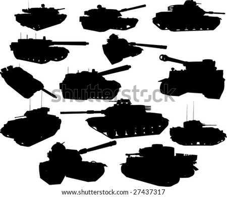 tanks collection - vector - stock vector