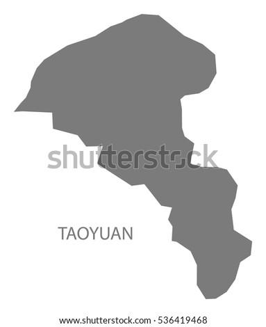 Taoyuan Taiwan Map Grey Stock Vector 536419468 Shutterstock