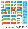 tape label set - stock vector