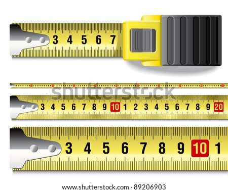 Tape measure - stock vector