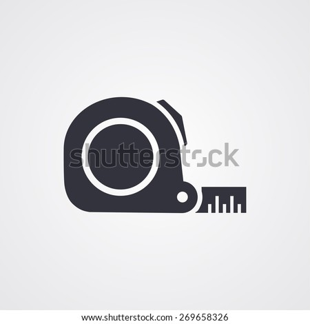 Tape measure icon. Roulette construction symbol icon. Vector Eps - stock vector