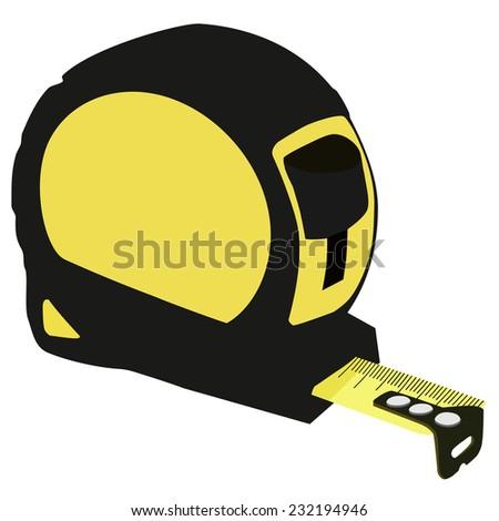 Tape measure, tape measure icon, tape measure isolated, centimeter - stock vector