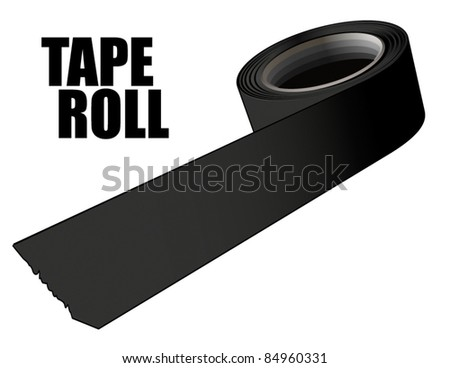 Tape roll - stock vector
