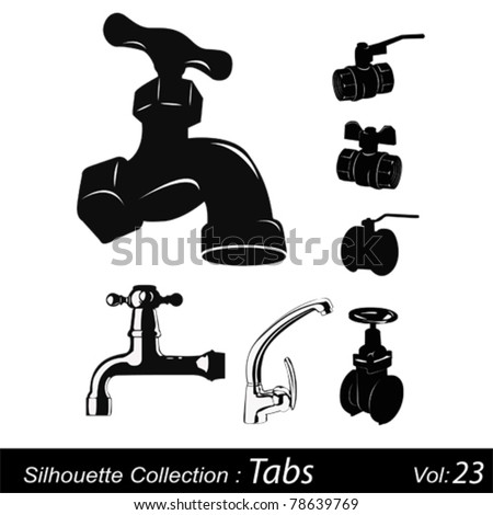 Taps silhouettes - stock vector