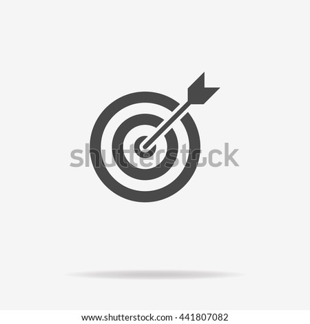 Target and arrow icon. Vector concept illustration for design. - stock vector