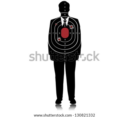 Target - Business assassination attempt.Vector - stock vector