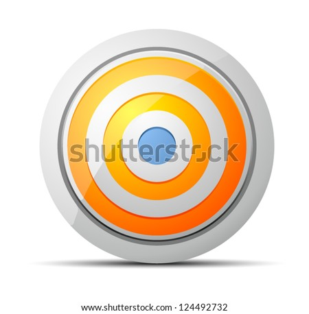Target button - stock vector