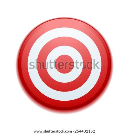 Target button - stock vector