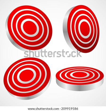 Target graphics. Hit, bulls eye, targeting, accuracy, challenge concepts - stock vector