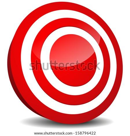 Target Icon. Aim, precision, luck, bulls eye, target practicing, targeting (market, marketing), goal, goal setting design element, vector icon. - stock vector