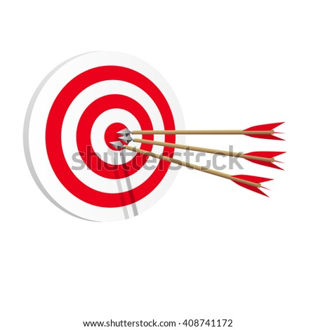Target icon art web. Success in business concept. Vector illustration