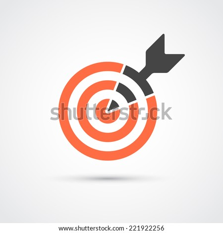 Target icon for business or sport. Element for web, mobile or print. - stock vector