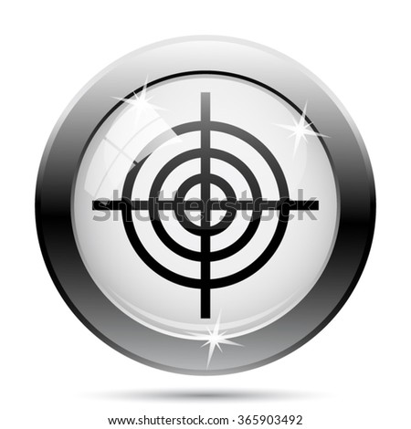 Target icon. Internet button on white background. EPS10 vector.
