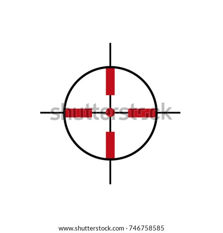 Target Icon Sight Sniper Symbol Isolated Stock Vector Royalty Free