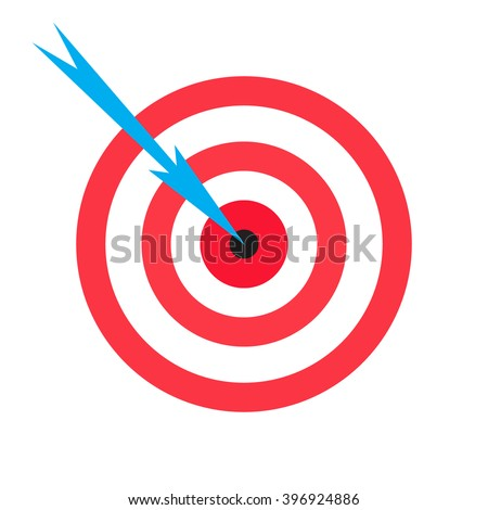 Target icon. Target and arrow vector banner, Web Target winner symbol. Logo target design. Target small round shield or buckler and arrow, bullseye and goal icon concept, focus, dart, win bull's-eye.
