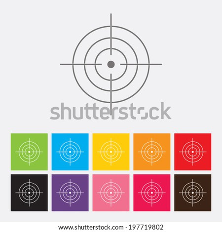 Target icon - Vector